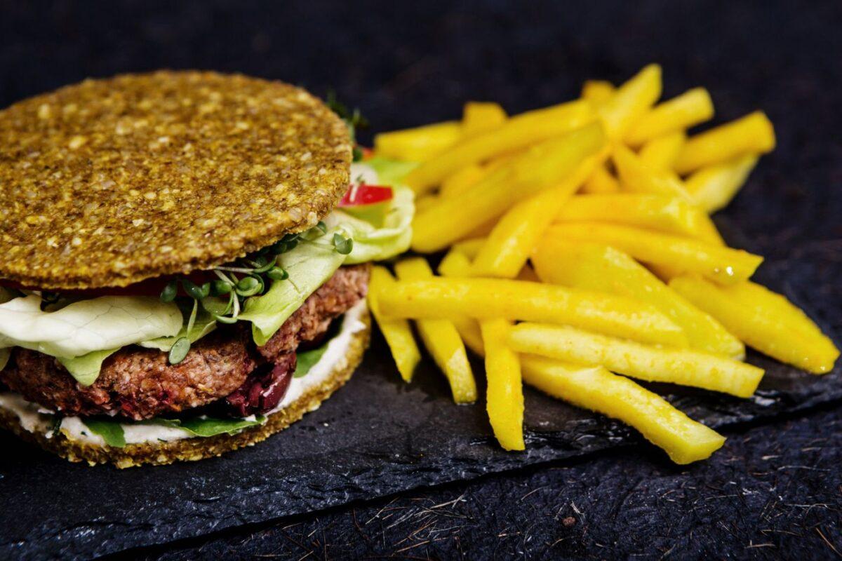 raw vegan hamburger