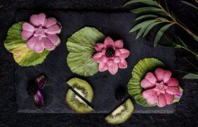 cupcake raw vegan cu mure si kiwi