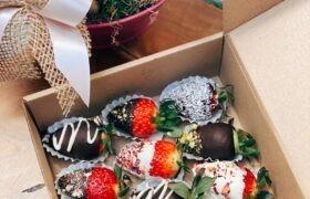 capsune cu ciocolata